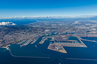 Aerial View of the Port of Los Angeles