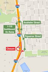 Southbound C Street On-Ramp Alternate Route