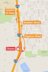 Southbound C Street Off-Ramp Alternate Route