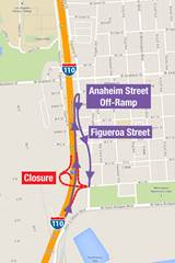 Northbound C Street Off-Ramp Alternate Route