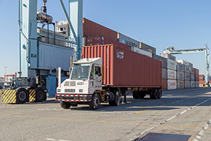 Cargo at the Port of Los Angeles