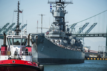 Battleship IOWA in San Pedro