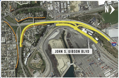 110/SR-47 Interchange & John S. Gibson Intersection/NB I-110 Ramp ...